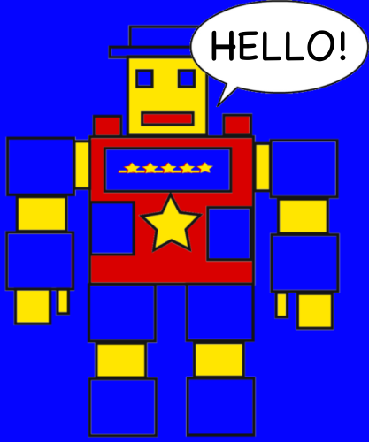 The Robot Says Hi